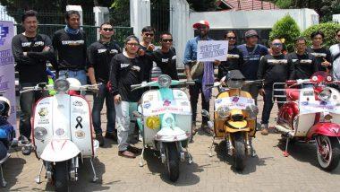 Komunitas Vespa Jelajah Tempat Bersejarah di Jakarta