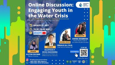 """Youth Online Discussion """"Krisis Air Bersih: Chapter Indonesian Youth"""""""